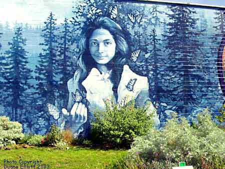 Mural of Opal Whiteley in Cottage Grove, OR